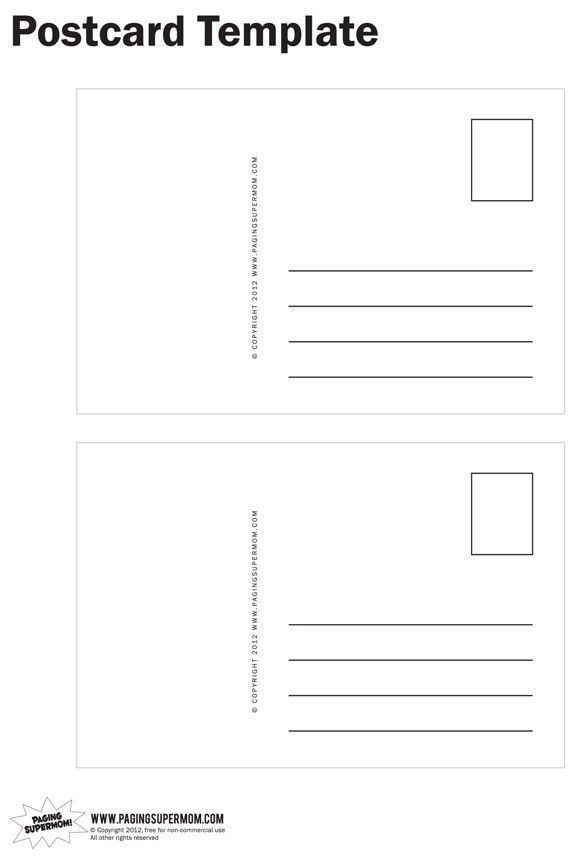 10 Best Images of Free Postcard Templates - Free Blank Printable ...