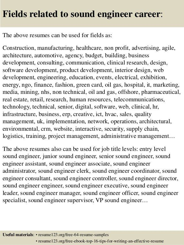 software developer sample resume doc audio engineering resume free