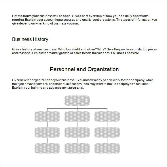 Business Plan Outline Template - 10+ Download Free Documents in ...