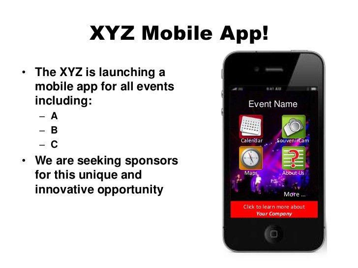Event Mobile App Sponsor Proposal Template