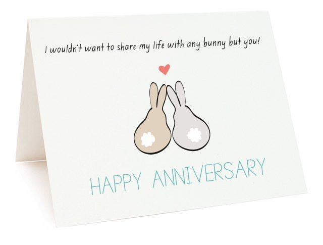 Printable Wedding Anniversary Cards For Wife