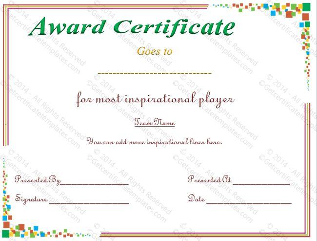 flower-print–Award-Certificate-Template