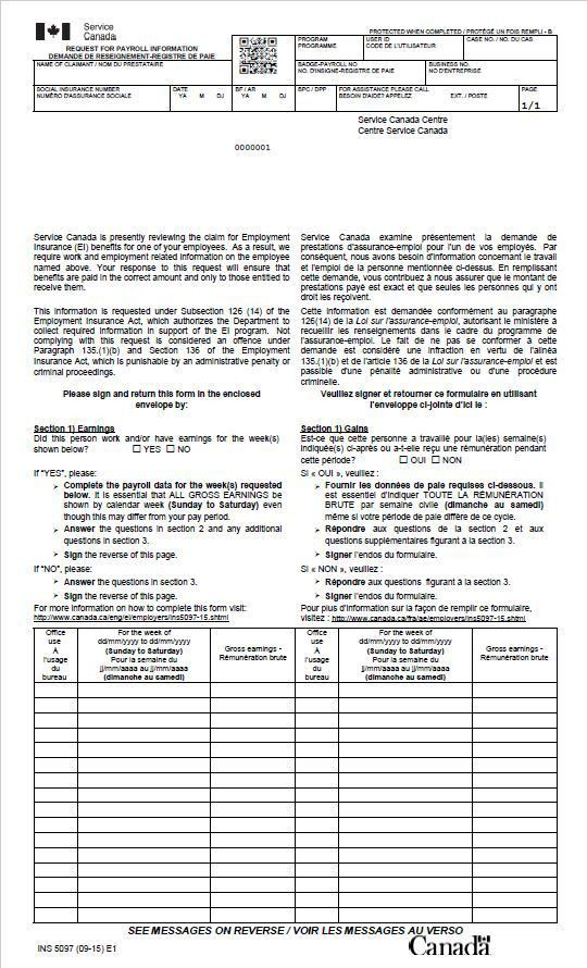 Request for Payroll Information Forms - Canada.ca