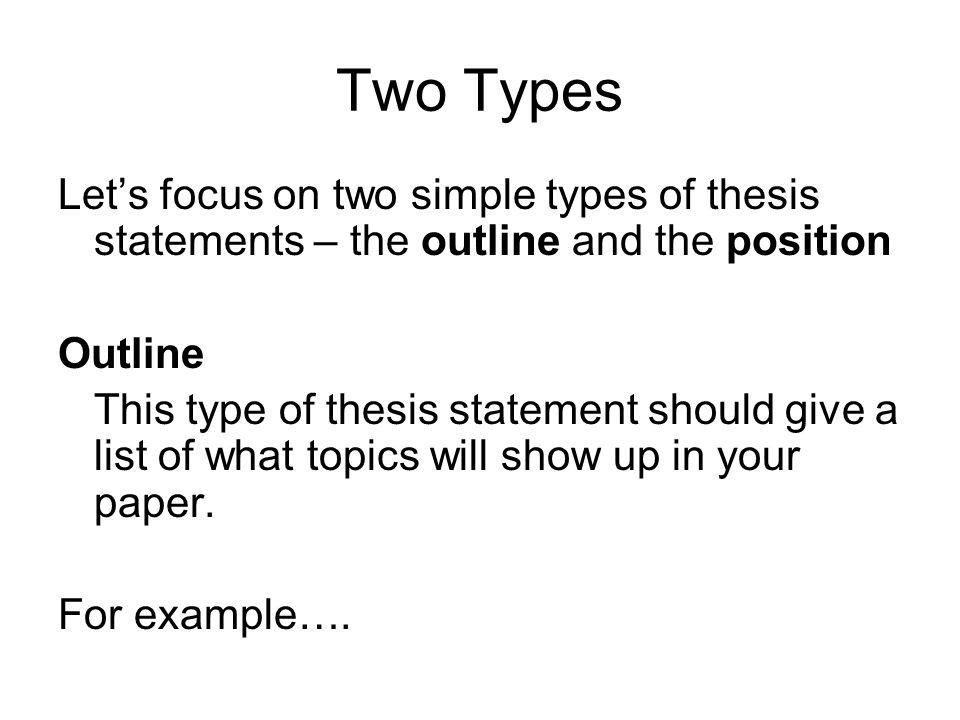 Thesis Statements The Quick and Easy Way. - ppt download