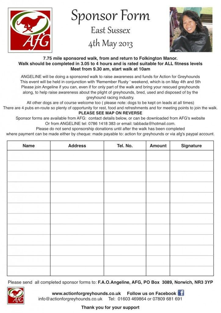 Charity Sponsor Form Template - cv01.billybullock.us