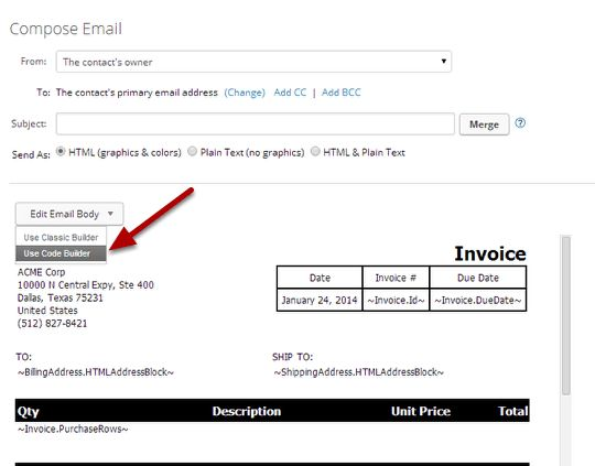 Infusionsoft Custom Invoice Template - Fortapay