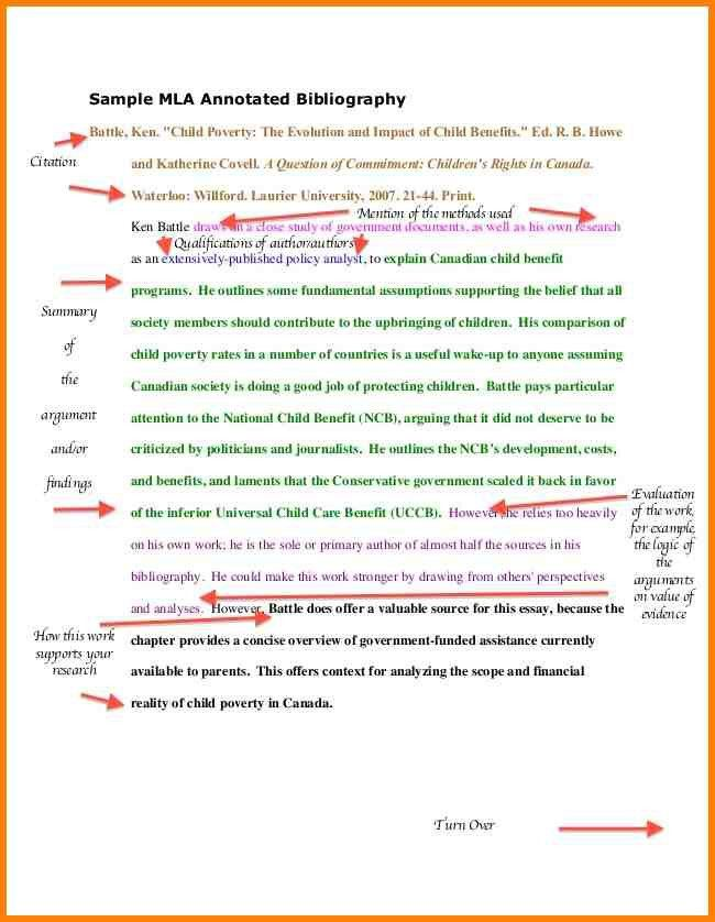 11+ annotated bibliography evaluation example | Annotated bibliography