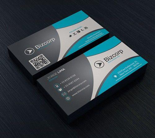 Modern Business Card Template #businesscards #psdtemplates ...