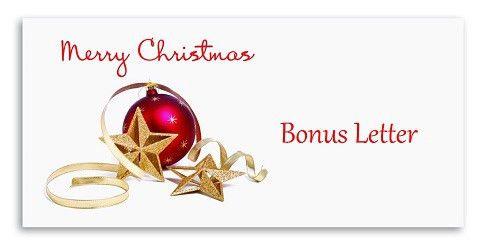 Christmas Bonus Letter