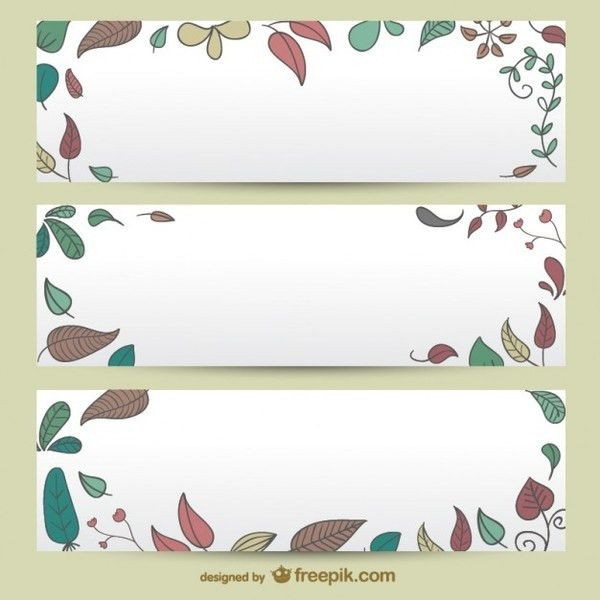 Autumn Banner Templates Free Vector | 123Freevectors