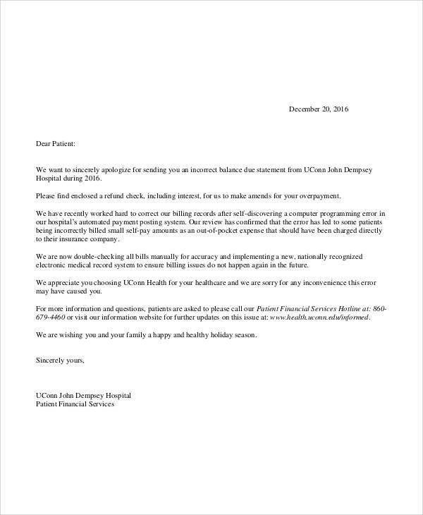 Wonderful Apology Letter To Customer For Billing Error : Vatansun