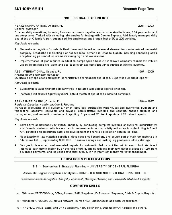 Resume Sample 17 - Supply Chain Management resume - Career Resumes