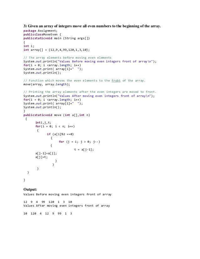 Java programs - bubble sort, iterator, linked list, hash set, reverse…