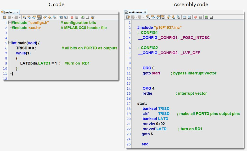 Programming Examples using the PIC16F1xxx MCU - Developer Help
