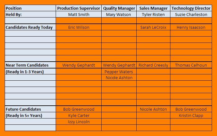 4+ succession planning template | attendance sheet