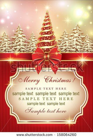 Elegant Christmas Card Stock Images, Royalty-Free Images & Vectors ...