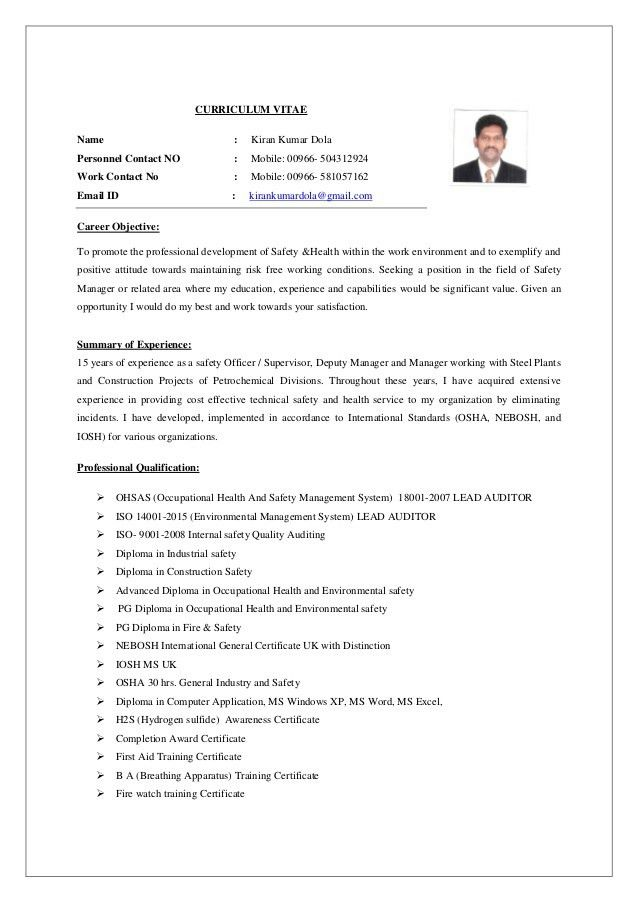 kirankumardola hse manager resume 2 construction safety officer