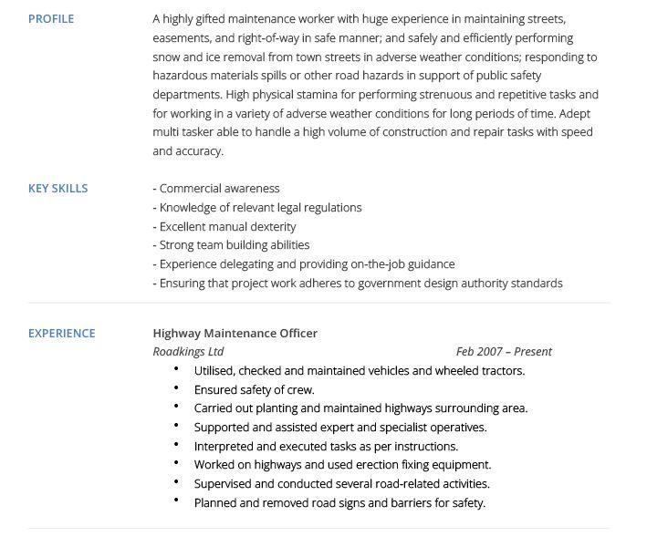maintenance technician resume sample resumecompanioncom building ...