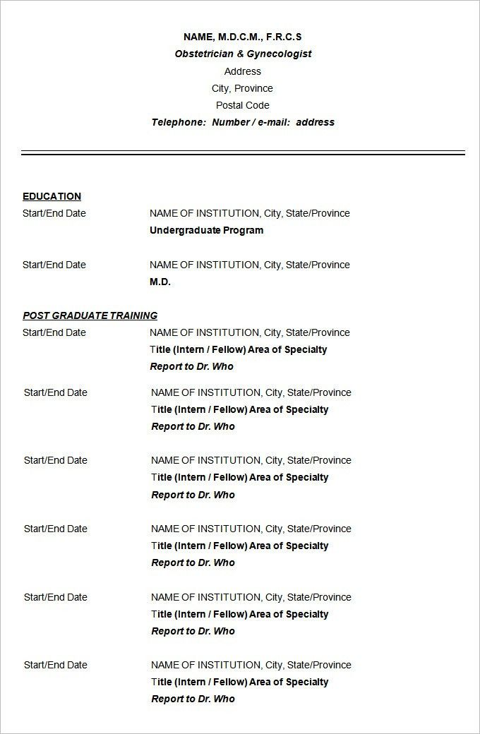 CV Templates – 61+ Free Samples, Examples, Format Download   Free ...