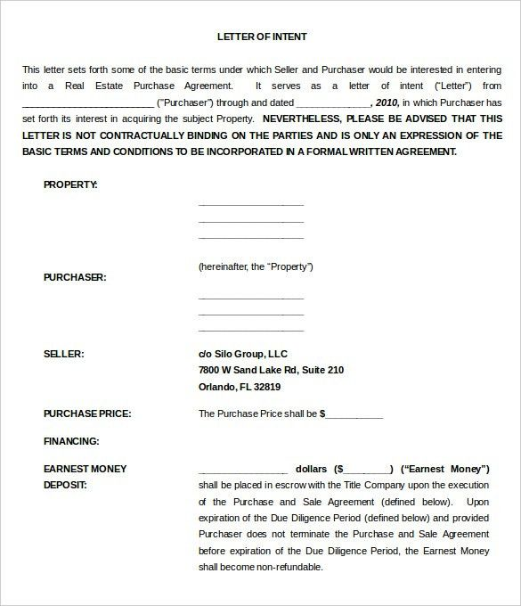 11+ Purchase Letter Of Intent Templates – Free Sample, Example ...