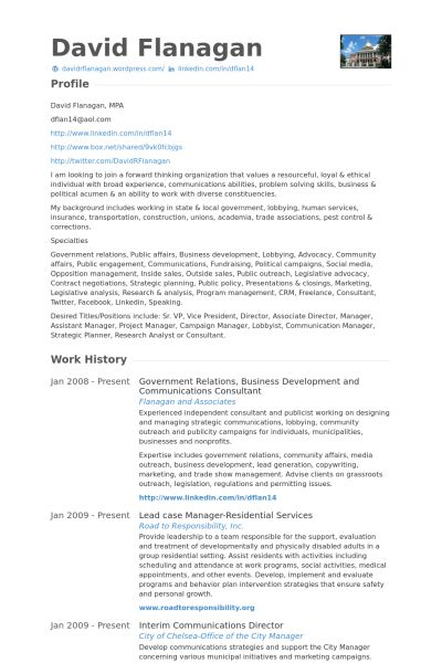 Communications Consultant Resume samples - VisualCV resume samples ...