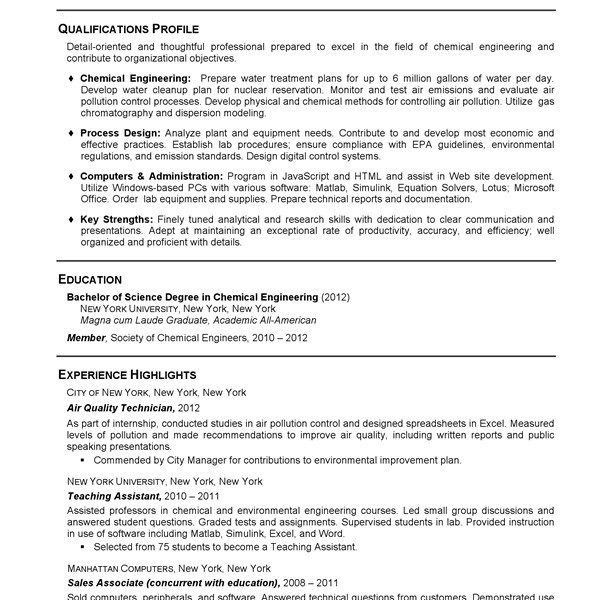 Water Quality Specialist Sample Resume] Sample Water Quality ...