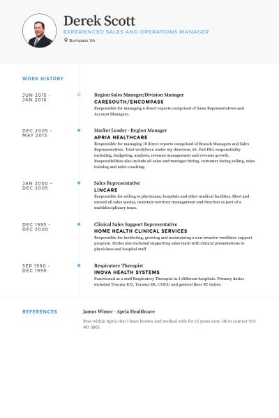Division Manager Resume samples - VisualCV resume samples database