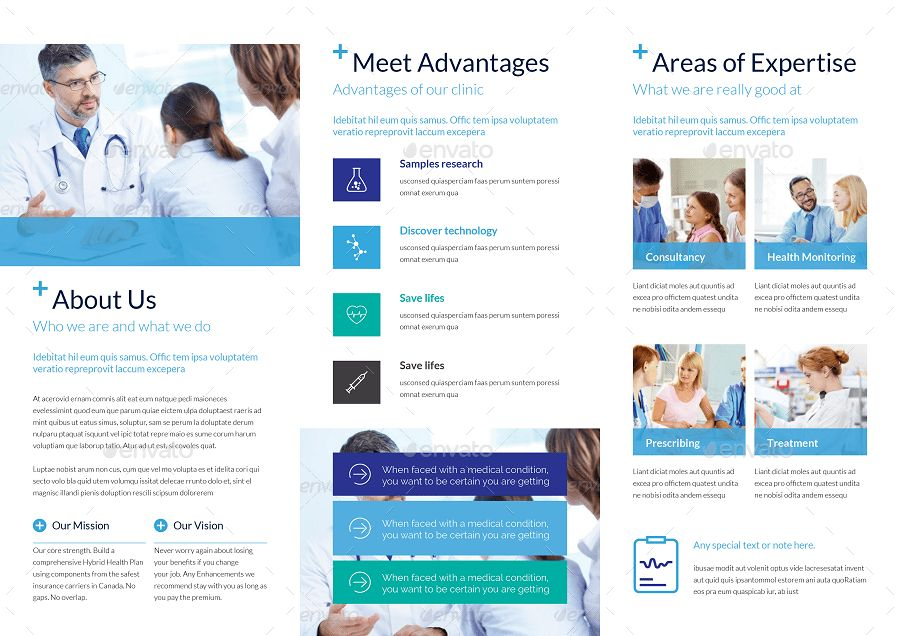 Medical Trifold Brochure Template by tontuz | GraphicRiver