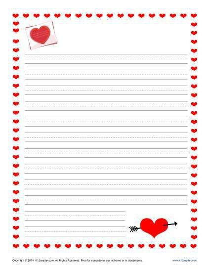 Valentine's Day Writing Paper for Kids | Free Printable Templates