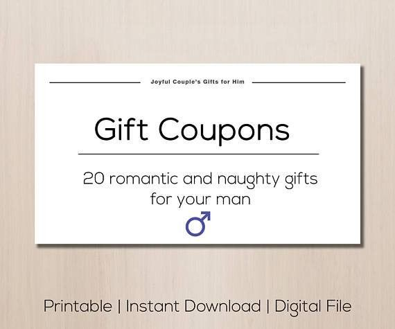 Gift for boyfriendChristmas gift printable gift coupons sex