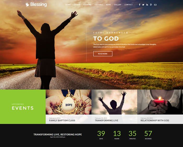 10+ Best Responsive Church HTML5 Website Templates 2017