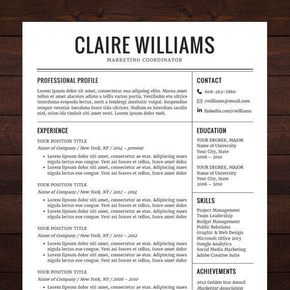14 best Curriculum Vitae images on Pinterest | Cv template, Cover ...