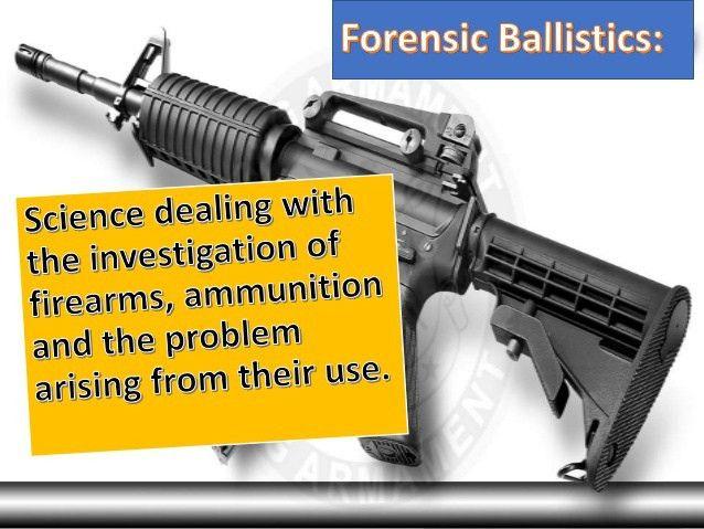 Forensic Ballistic