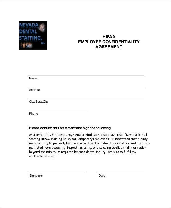 Printable Agreement Form. 9+ Employee Confidentiality Agreement ...