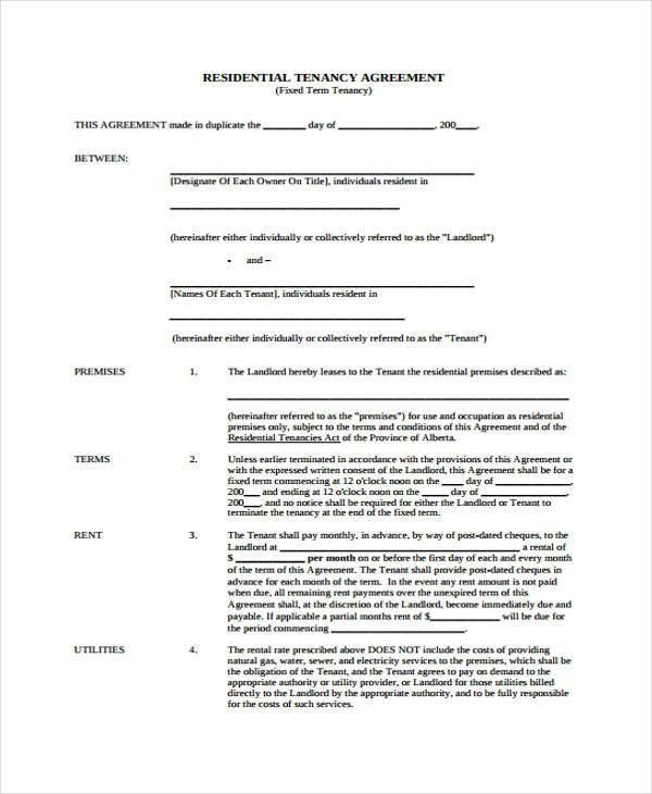 Landlord Tenancy Agreement Download 114 | Samples.csat.co