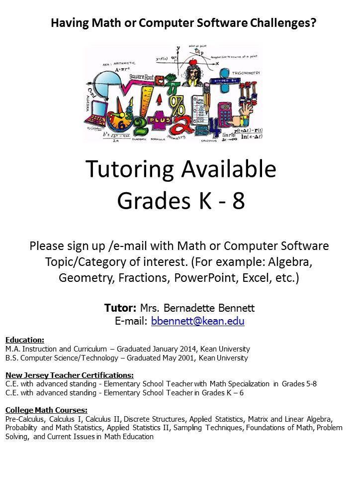 Bennett Math Tutor