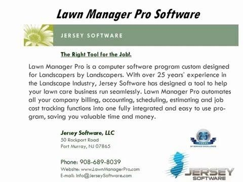 Landscape Billing Software | Template Design
