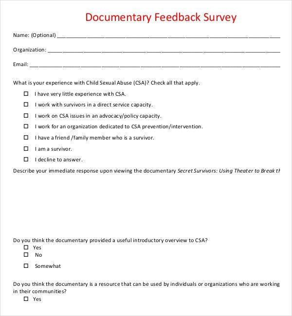 12+ Feedback Survey Templates – Free Sample, Example, Format ...