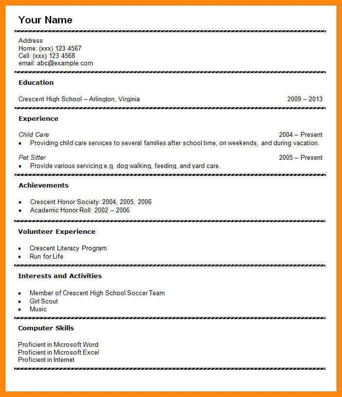 Student Cv Template. Images About Good Cv Examples On Pinterest ...