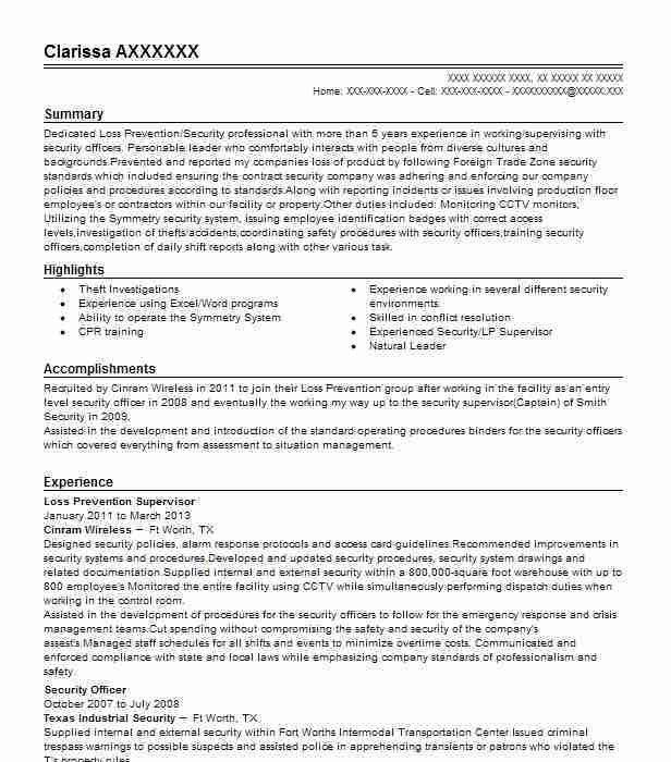 Law Prevention Manager Resume Unforgettable Loss Prevention