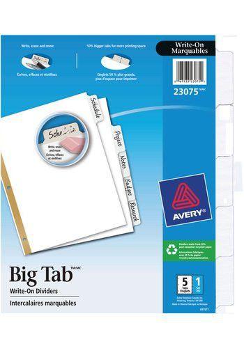 28+ [ Avery Big Tab 5 Tab Template ] | Avery Big Tab Insertable ...