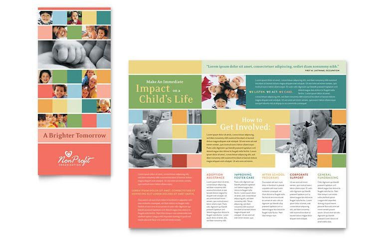 Non Profit Association for Children Brochure Template - Word ...