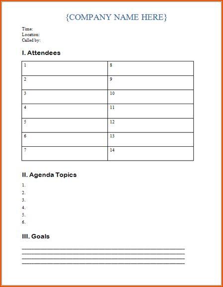 5+ microsoft word agenda template - bookletemplate.org