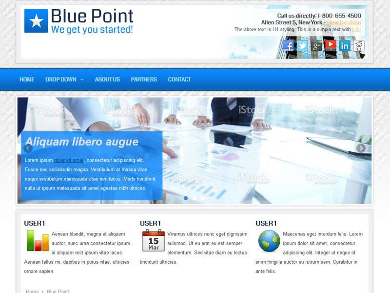 Blue Point - Business Joomla Theme Free