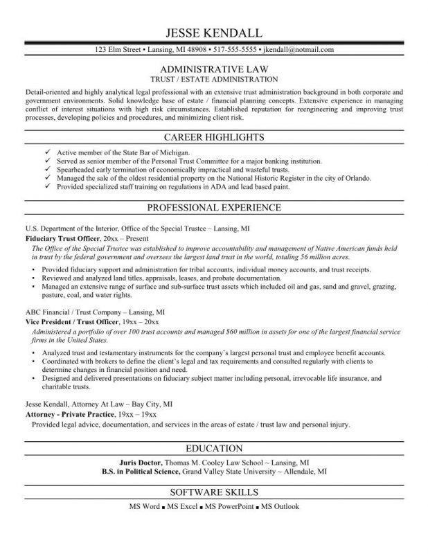 attorney resume example for lawyer resume sample. glamorous sample ...