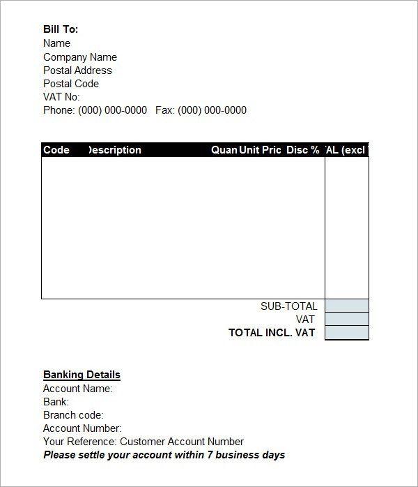 Proforma Invoice Template Word Doc | invoice example