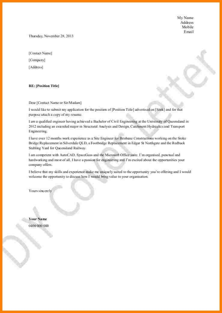 Microsoft Cover Letter Template - My Document Blog