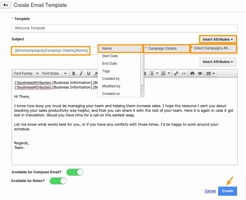How do I Create Email Templates in Direct Campaigns App? | Apptivo FAQ