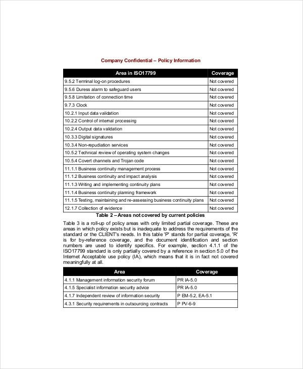 Policy Gap Analysis Template - 3+ Free Excel, PDF Documents ...