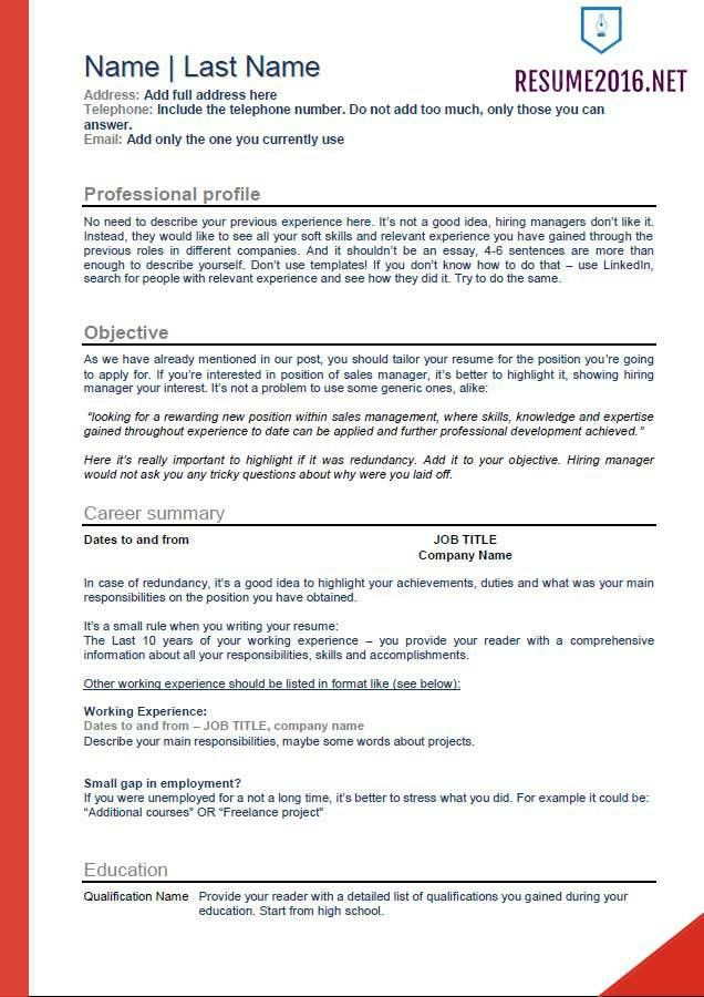resume latest format resume cv cover letter. recent resume format ...